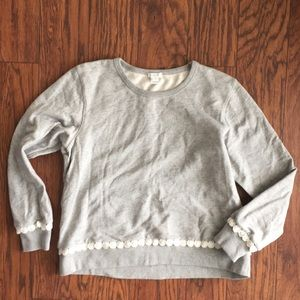 J.Crew scalloped sweatshirt. Medium